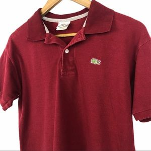 Lacoste Red/Maroon Polo Shirt Size 5 (Med) Men's